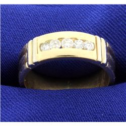 14k Diamond band ring