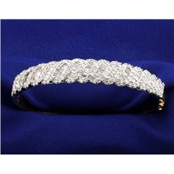 5 Carat Ladies 14k Yellow Gold with White Gold Diamond Settings Bracelet