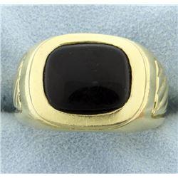 18 K Yellow Gold Men's Onyx Ring