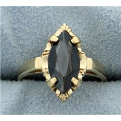 Jet Gemstone Ring