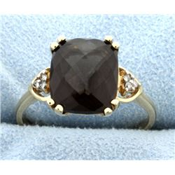 Smokey Topaz & Diamond Ring