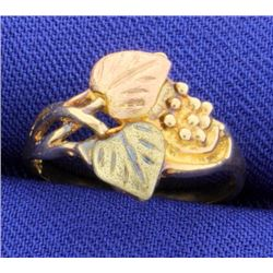 Rose & Yellow Gold Leaf Ring