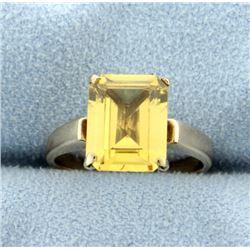 Antique 3ct Citrine Ring