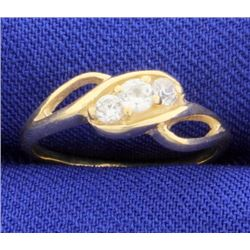 Gold Ring with CZs