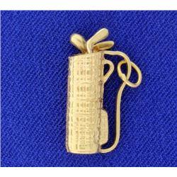Golf Bag Pendant or Charm