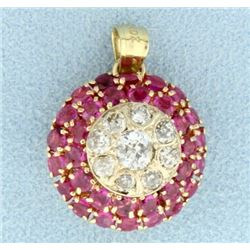 Antique Diamond and Ruby Pendant