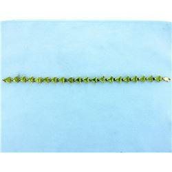 Unique Peridot Bracelet
