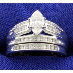Wedding Band Set-Engagement Ring and Wedding Band