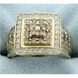 1 1/4ct TW Chocolate and White Diamond Ring