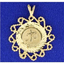 Libra Zodiac Pendant