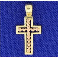Cross with Hearts Pendant