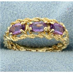 .75ct TW Amethyst Ring