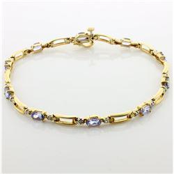 Lab Tanzanite & Diamond Bracelet