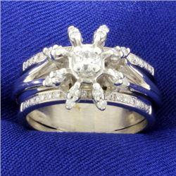 .60ct TW Diamond Flower Ring