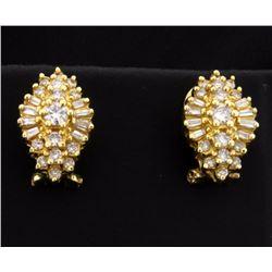 Over 1ct TW Diamond Earrings