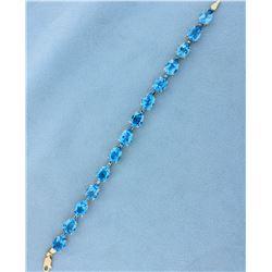 20ct TW London Blue Topaz Bracelet
