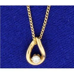 Diamond Pendant on 21 inch chain