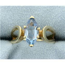 2 ct Blue Topaz Ring