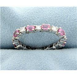Flexible Pink Topaz & Diamond Ring