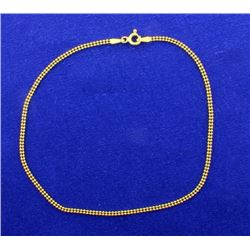 Double Ball Link Gold Bracelet