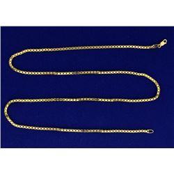 22 Inch Heavy Box Link Neck Chain