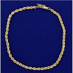 9 Inch Rope Style Anklet
