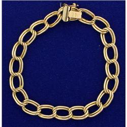 7 1/2 Inch Large Link Charm Bracelet