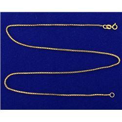 16 Inch Box Link Neck Chain