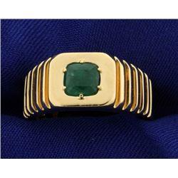 3/4ct Natural Emerald Ring- Men's or Women's