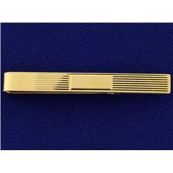 14k Gold Tie Clip