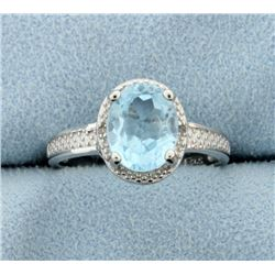 Vintage Style Blue Topaz Ring