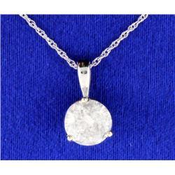 1.28 carat Diamond Pendant with chain
