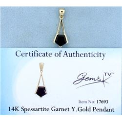 Spessartite Garnet Pendant