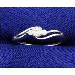 3 Diamond 10k White Gold Ring