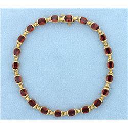 Garnet 14k Gold 10 Carat Bracelet