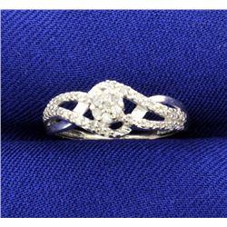 1/2 Carat Micro Set 10k White Gold Ring