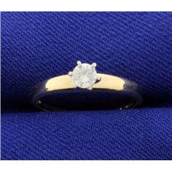 Diamond 1/5 Carat 14k Solitaire Ring