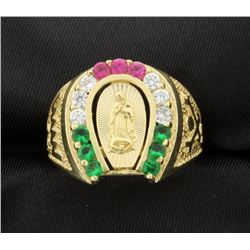 "14k ""Our Lady"" ring"