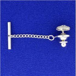Antique 3/4 ct Total Weight Diamond Tie Tack