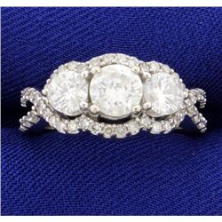 3 Stone Diamond Ring 2 ct total weight