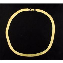 14K Herringbone Necklace