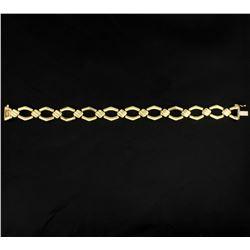 Italian Made 7 1/4 Inch Gold Bracelet