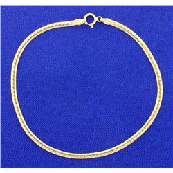 7 5/8 Inch Yellow Gold Bracelet