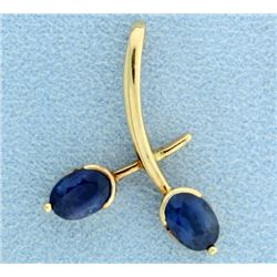 18K Sapphire Pendant