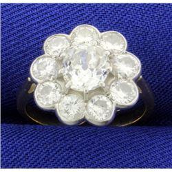 Antique Mine Cut Diamond Ring