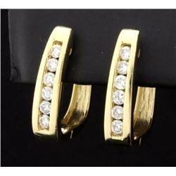 .6ct TW Diamond Hoop Earrings