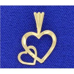 Diamond Cut Heart Pendant