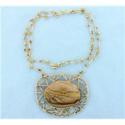 Large Handmade Agate Gemstone Necklace