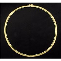 18 Inch Italian Made Omega Necklace