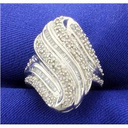 Unique 1ct TW Modern Diamond Ring
